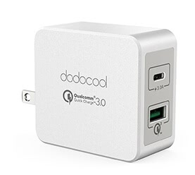 33W 2-Port USB Wall Charger